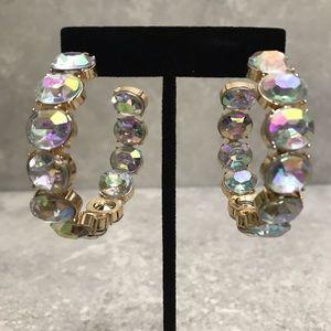 Inside-Out Crystal Hoop Earrings